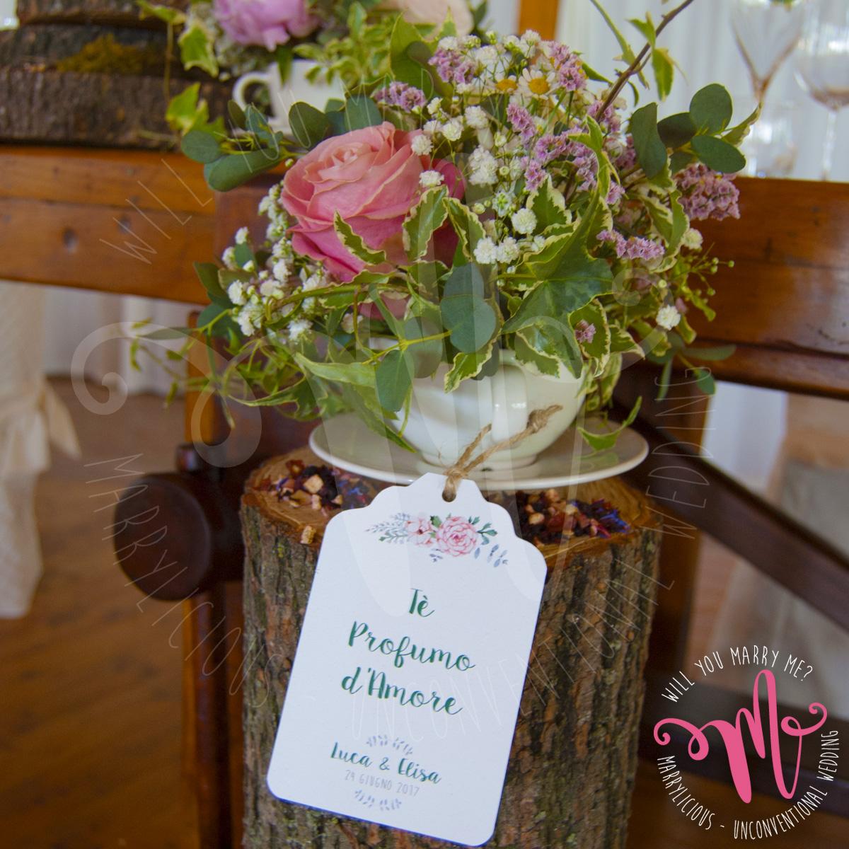tavolo sposi con segnatavolo