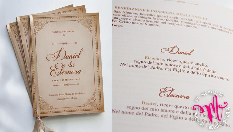 Frasi Matrimonio Libretto Messa.Libretti Cerimonia Perche Sono Utili Per Il Matrimonio Marrylicious