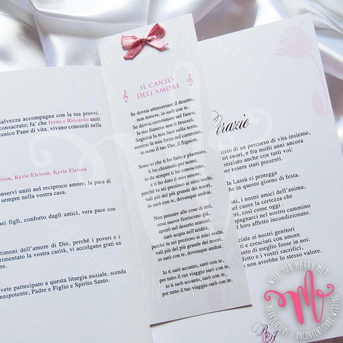 libretto messa matrimonio