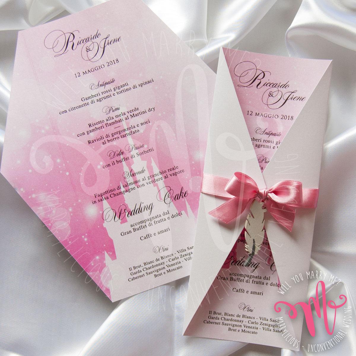 menu personalizzato matrimonio