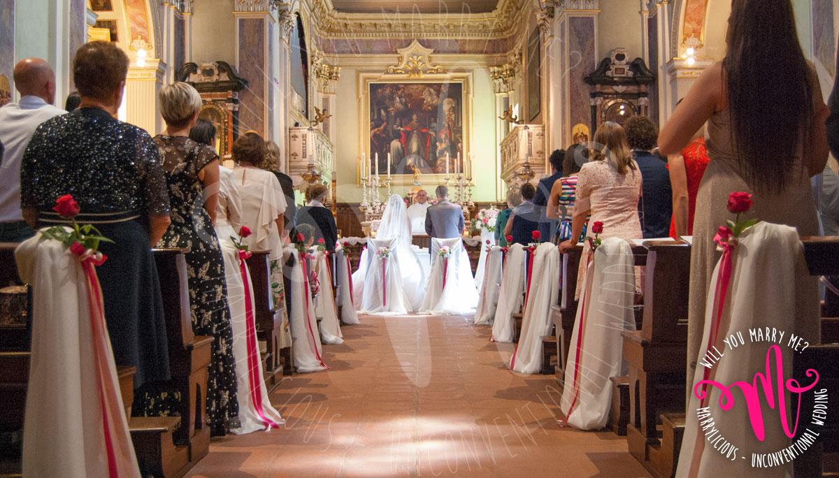 chiesa allestimento matrimonio