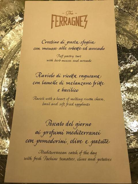 menu ferragnez