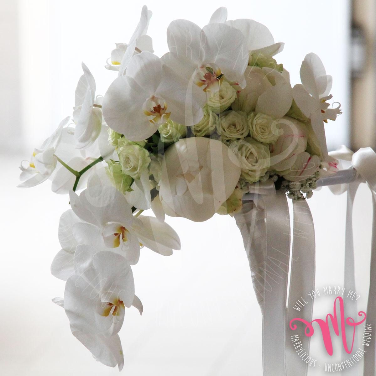 bouquet sposa cascata