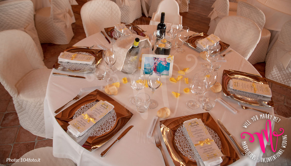 tavolo nozze invitati