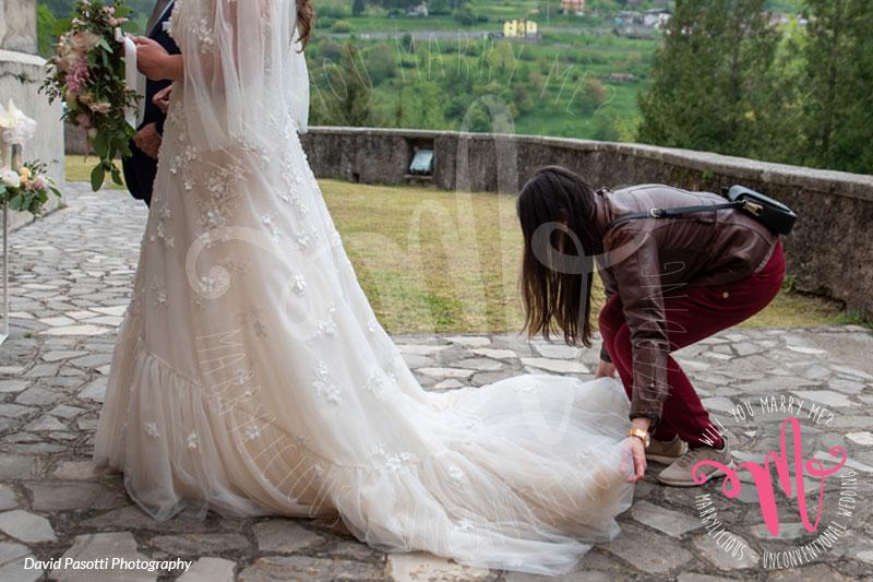sistemazione sposa