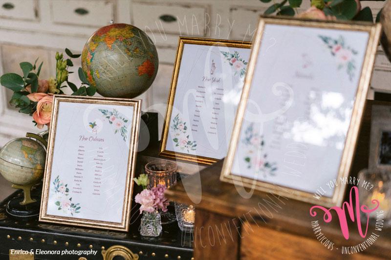 tableau de mariage dettagli