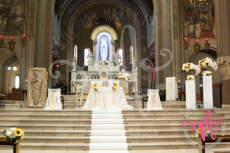 chiesa matrimonio girasoli