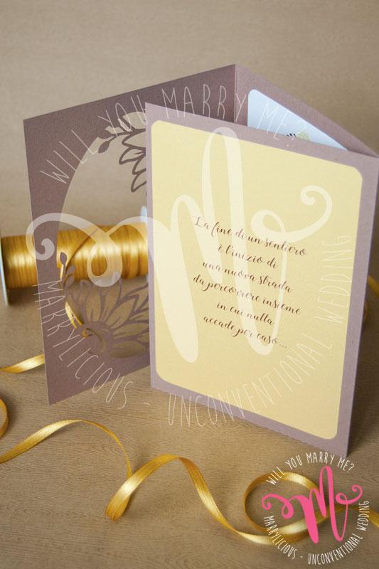 invito nozze girasole