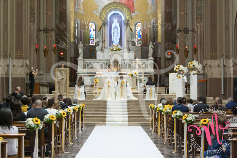 matrimonio chiesa girasoli