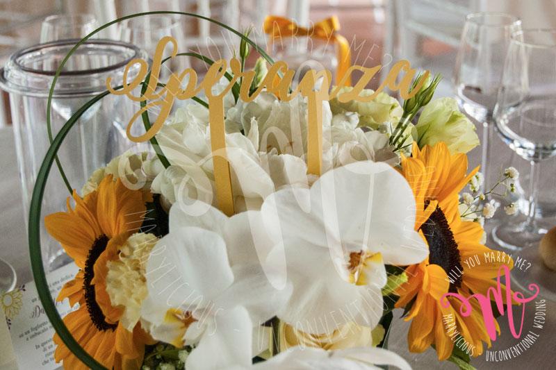 segnatavolo fiori